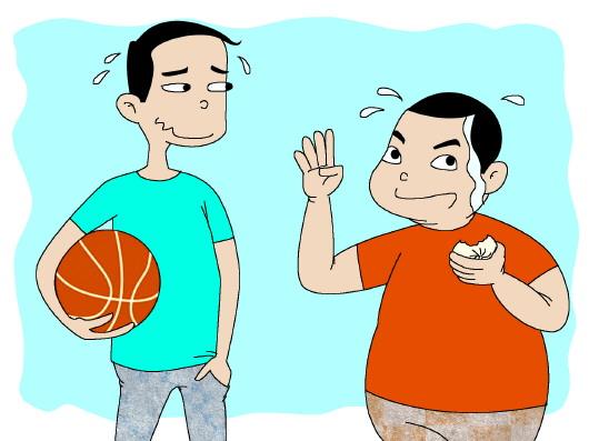 小朋友吃饭卡通简笔画